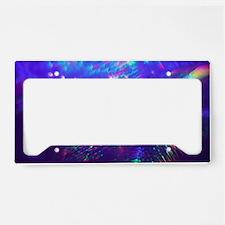 Rainbow Explosion License Plate Holder