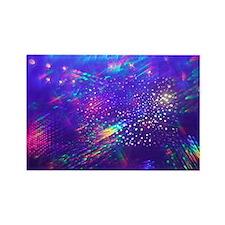 Rainbow Explosion Rectangle Magnet
