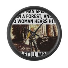 IfAManSpeaksInTheForest.gif       Large Wall Clock