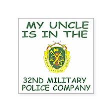 "ArmyNationalGuard32MPCoUncl Square Sticker 3"" x 3"""