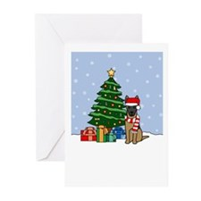 Malinois Howling Holiday Greeting Cards (Pk of 10)