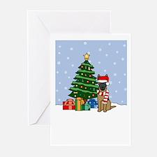 Malinois Howling Holiday Greeting Cards (Pk of 10)