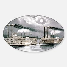 The great Mississippi steamboat race - 1870 Sticke