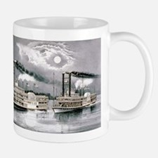 The great Mississippi steamboat race - 1870 Mug