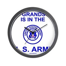 ArmyMyGrandsonInBlue.gif Wall Clock