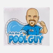 Pool Guy Throw Blanket
