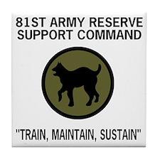 ArmyReserve81stRSCTeeshirt.gif Tile Coaster
