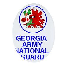 ArmyNationalGuardGAGreetingCard.gif Oval Ornament