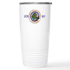 NavyGatorNavyWhiteCap2.gif Ceramic Travel Mug