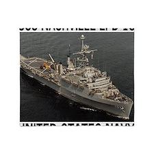 NavyShipUssNashvilleTeeshirt3.gif Throw Blanket