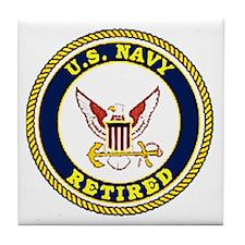 NavyRetiredCircleLogoX.gif Tile Coaster