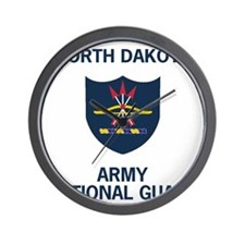 ArmyNationalGuardNorthDakotaTeeShirt.gi Wall Clock