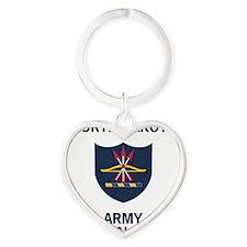 ArmyNationalGuardNorthDakotaTeeShir Heart Keychain