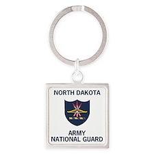 ArmyNationalGuardNorthDakotaTeeShi Square Keychain