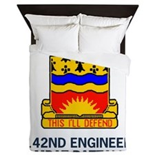 rmyNationalGuard142ndEngineerBnAlphaCo Queen Duvet