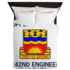 tionalGuard142EngineerBnHeadquartersCo Queen Duvet