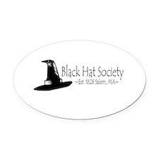Black Hat Society Oval Car Magnet