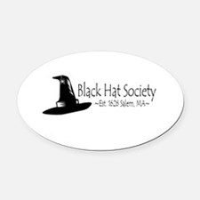Black Hat Society Oval Car Magnet