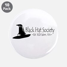 """Black Hat Society 3.5"""" Button (10 pack)"""