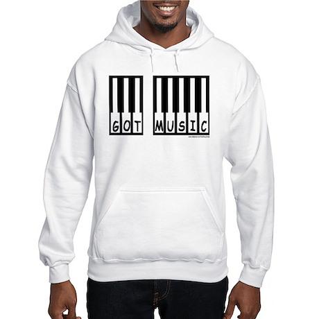 """Got Music"" Piano Keys Hooded Sweatshirt"
