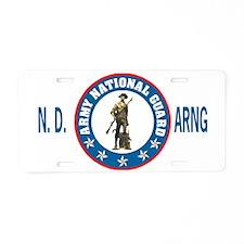 ArmyNationalGuardNDBlueCap2 Aluminum License Plate