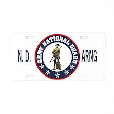 ArmyNationalGuardNDWhiteCap Aluminum License Plate