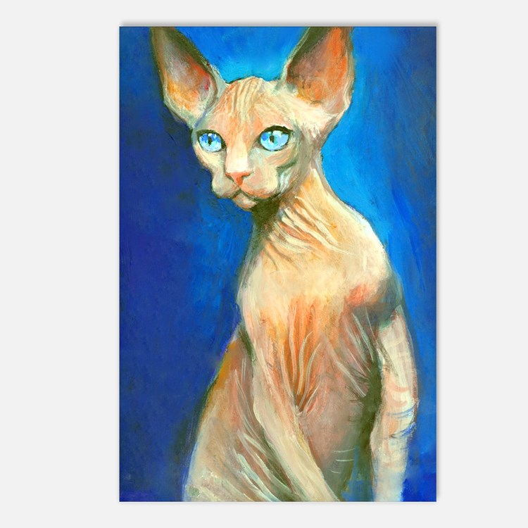 Sphynx cat 15  Postcards (Package of 8)