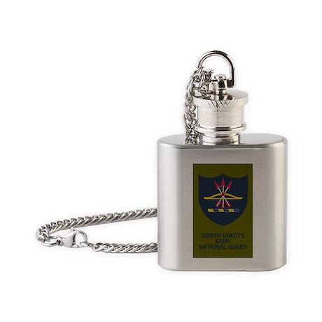 ArmyNationalGuardNDStickerShoulderP Flask Necklace