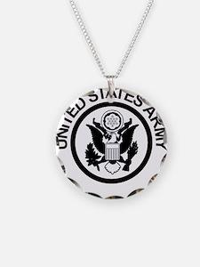 ArmyLogoBlackAndSilver.gif Necklace Circle Charm