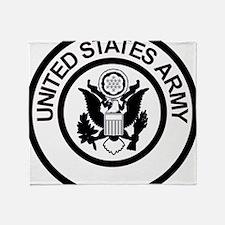 ArmyLogoBlackAndSilver.gif Throw Blanket