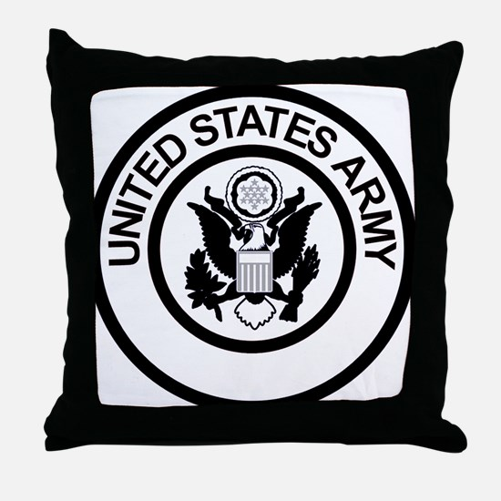 ArmyLogoBlackAndSilver.gif Throw Pillow
