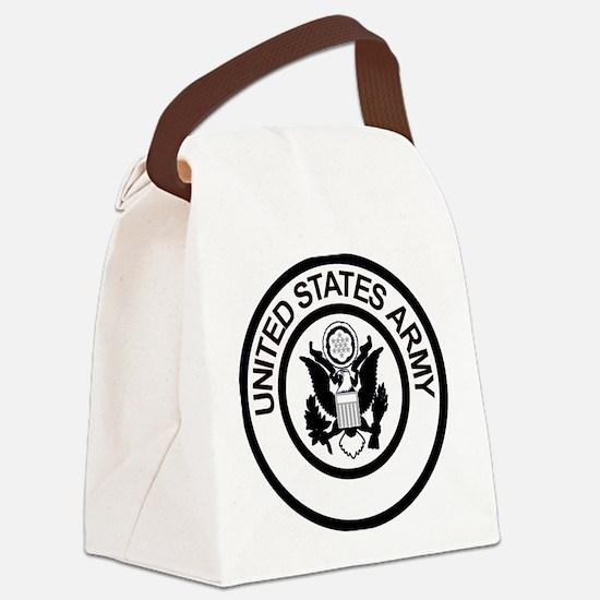 ArmyLogoBlackAndSilver.gif Canvas Lunch Bag