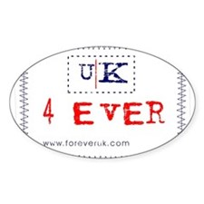 UK 4 ever Oval Decal