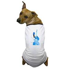 Upright bass blue n white player Dog T-Shirt