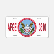 AFGE-Local3610Cap2.gif Aluminum License Plate