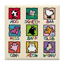 Animals and Sounds Tile Coaster