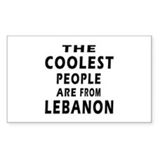 The Coolest Lebanon Designs Decal