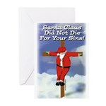 Santa Cross Greeting Cards (Pk of 10)