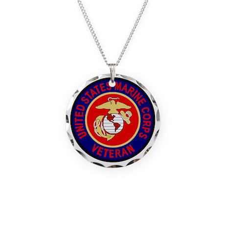 USMCVeteranSealGifB.gif Necklace Circle Charm