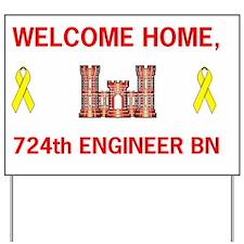 ARNG724thEngineerBnWelcomeHomeMiniposter Yard Sign