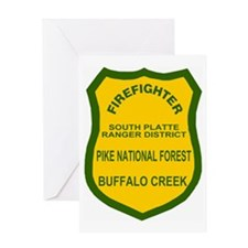 ForestServiceDamonBadge.gif Greeting Card