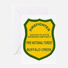 ForestServiceDamonBadge.gif Greeting Card