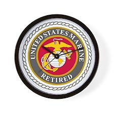 USMCRetiredSealBonnie.gif Wall Clock