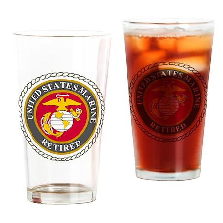USMCRetiredSealBonnie.gif Drinking Glass