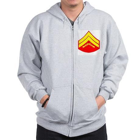 USMCCorporalGold-Red.gif Zip Hoodie