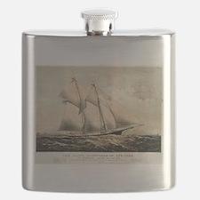 The yacht Dauntless of New York - 1869 Flask