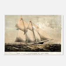 The yacht Dauntless of New York - 1869 Postcards (