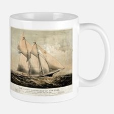 The yacht Dauntless of New York - 1869 Mug