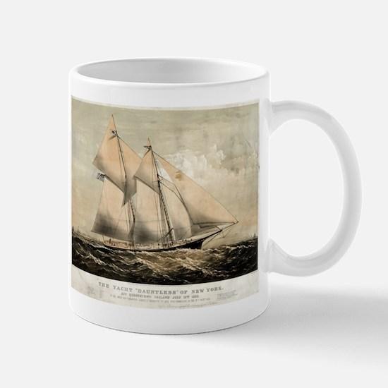 The yacht Dauntless of New York - 1869 Mug