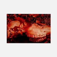 Red Skull Rectangle Magnet